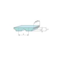 AT5 fogprofilú bordásszíjak különböző fogszámokkal