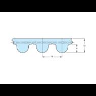 HTD14M fogprofilú fogasszíjak különböző fogszámmal