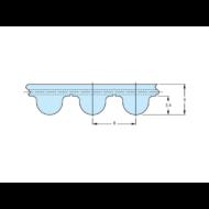 HTD8M fogprofilú bordásszíjak különböző fogszámmal