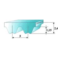 RPP3 fogprofilú fogasszíjak különböző fogszámmal