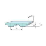 T10 fogprofilú bordásszíjak különböző fogszámokkal