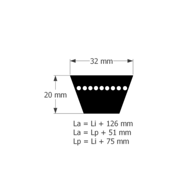 ékszíj C/32 -es profil