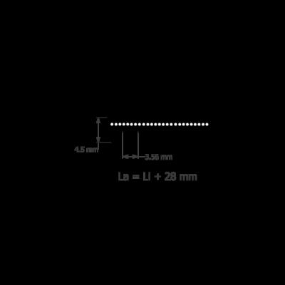 PK hosszbordás szíj profilméretei