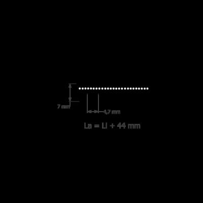 PL profilméretű hosszbordás szíj