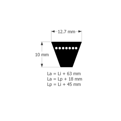 ékszíj 12,5 profil