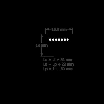 XPB ékszíj profil